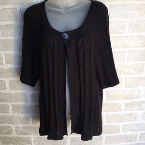 Women's plus size 20 -22 black shrug sweater NWT